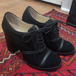 Chinese Laundry suede lace up heels